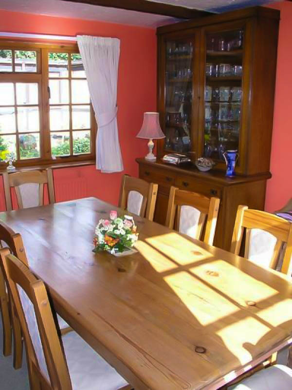 Frogfurlong Cottage Bed and Breakfast, Down Hatherley, Gloucester, Dining Room